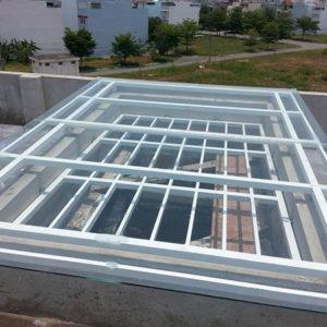 mái kính giếng trời tại Hải Phòng