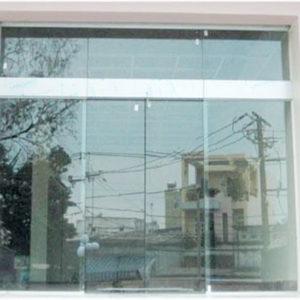 Cửa kính cường lực trượt bán tự động TD01