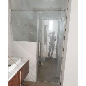 Vách tắm kính cửa mở quay 01