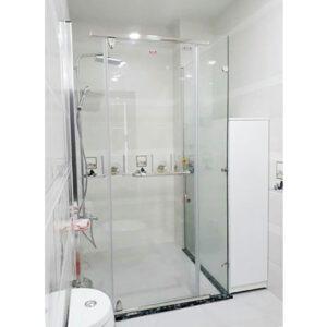 Vách tắm kính cửa mở quay 02