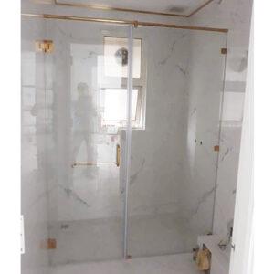 Vách tắm kính cửa mở quay 03